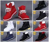 Wholesale Nude Color Shoes Flats - Man 7 Eyelets 6-Inch Premium Ankle Boots Men's Timber Work Hiking Shoes Winter Snow Boots for Men Brand New Size US 8-13