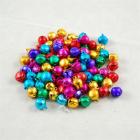 Wholesale small bells jewelry for sale - Group buy Aluminum Color Small Bell Jewelry Charm Accessories Pendant Hand Made Bells Decor Diy Craft Festive Pet Supplies bn4 jj
