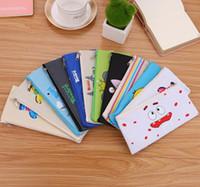 ingrosso borse della moneta animale del tessuto-Studente Cartoon animal print Sacchetti per matite bambini Oxford tessuto di stoffa Cartoleria borse Bambini carino astuccio borse borsa di tela borsa soldi borsa