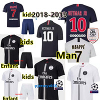 Wholesale Thai maillots PSG soccer jersey Man Woman kids maillot de foot psg rd third MBAPPE CAVANI jerseys Paris Maillots de football