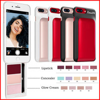 Wholesale glow lipstick for sale - Group buy CmaaDu Makeup Palette with for iphone s lipstick concealer glow cream cosmetics kit for inch phone