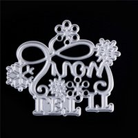Wholesale crafts invitations - 3D DIY LET IT Snow Metal Stencil Embossing Cutting Dies Scrapbooking Craft Photo Invitation Cards Decoration