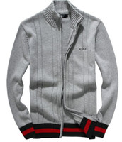 Wholesale polo xl sweater - Wholesale-new arrival cardigan v neck polo sweater, men cotton casual coat, fashion brand knitted sweater half zipper jumper