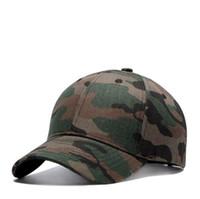 yaz şapkaları erkek toptan satış-Mix tasarım kamuflaj güneşlik beyzbol şapkası ayarlanabilir mens camo askeri şapkalar yaz sonbahar eğlence bayan moda güneş şapka toptan