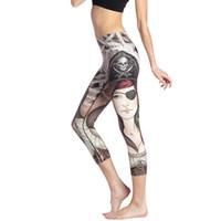 f6cf15d27db Wholesale pirate leggings online - Sexy Yoga Pants Pirate Woman Print Sport Tights  Women Fitness Leggings