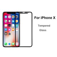 Wholesale Film X Blacks - 9H Tempered Glass Screen Protector For iPhone x Full protection film xphone x accessories For iPhonex Protective Filming Black Cover Glas 2.