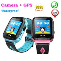 Wholesale swimming wrist watch resale online - DHL Waterproof V6G Swimming Smart Watch GPS Tracker Monitor SOS Call with Camera Baby Smartwatch for Kids Child