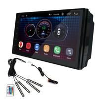 gps мультимедийный автомобильный стерео андроид оптовых-UGAR 7 дюймов Android 6.0 универсальный головной блок 1024 * 600 Android автомобильный GPS-навигатор мультимедийный плеер радио Bluetooth Wifi DVR готов