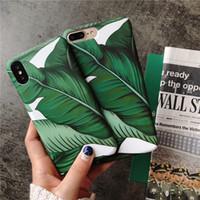 Wholesale Vintage Flower Iphone Cases - Summer Vintage Floral Flower Phone case for i6 7 8 Plus Sweet Leaves Hard Plastic Case Back Cover