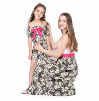 Wholesale mom daughter dress lace resale online - Family Matching Mother Daughter Long Dresses Mom and Daughter Dress Kids Parent Outfits Ankle Length Mother Kids Lace Dress