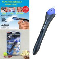 zweiter kleber großhandel-5 Sekunden Fix Allzweck-Klebstoff Abs PVC-Kleber UV-Licht Repair Tool Flüssige Kunststoff-Schweißmasse Dropshipping