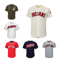 Wholesale indian names - Men Women Youth Indians Jerseys Blank Jersey Baseball Jersey No Name No Number White Gray Grey Navy Blue Red Cream Green Salute to Service