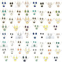 15 schmucksets großhandel-15 Farben Druzy Drusy Halskette Ohrringe Schmuck Set Gold Versilbert Hexagon Harz Kristall Ketten Dangle Ohrstecker Kendra Scott