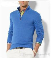 cardigan en tricot décontracté achat en gros de-Gros-nouvelle arrivée cardigan v col polo chandail, manteau décontracté en coton hommes, chandail tricoté moitié marque pull à capuche