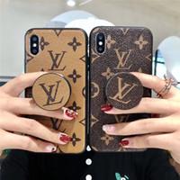 étui iphone 3 chocolat achat en gros de-Support Airbag Couverture Pour Iphone XS MAX Téléphone Case Marque Designer Cas de Téléphone pour iPhone X 678 Plus Box