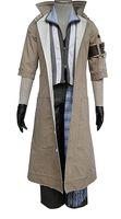 traje de fantasía para hombre al por mayor-Abrigo largo trinchera gris para hombre de Final Fantasy, 8 piezas, juego de cosplay