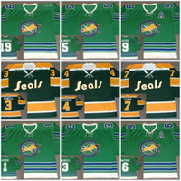 Wholesale carol red - Oakland Seals Jersey 1 CHARLIE HODGE 1967 3 HARRY HOWELL 4 DICK REDMOND 5 CAROL VADNAIS 6 BRYAN WATSON Vintage Hockey Jerseys