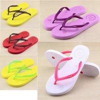Wholesale Wholesale Girl Sandals - Girls love Pink Sandals Candy Colors Pink Letter Slippers Shoes Summer Beach Bathroom Casual Rubber Slides Flip Flop Sandals Multicolor