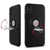 магнитное железо оптовых-Для 2018 IPHONE XR XS MAX Armor Чехлы для телефона Двухслойный с железным листом Магнитный держатель Магнитный кронштейн