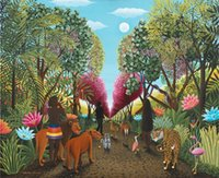 Wholesale paradise paintings resale online - Mosaic home decoration Animal Paradise tiger lion diy diamond painting cross stitch kit rhinestone full square diamond embroidery zxh0501