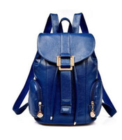 Wholesale Nice Bag Brands - Nice- New Nice Leather Backpacks Women Bags Ladies Brand Backpack Preppy Style Vintage School Bag Backpack Travel double shoulder bag