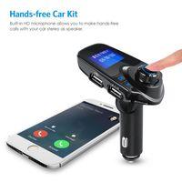 Wholesale car mp3 modulator usb resale online - wireless Bluetooth FM transmitter FM modulator car hands free kit radio adapter USB charger MP3 music player for iphone Samsung