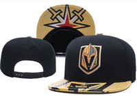 Wholesale snapback teams - New Caps Vegas Golden Knights Hockey Snapback Hats Black Color Cap Gold Black Gray Visor Team Hats Mix Match Order All Caps Top Quality Hat