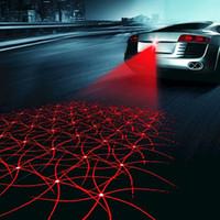 luces de advertencia envío gratis al por mayor-Udate Car LED Laser Antiniebla Luz Anticolisión Piloto Trasero Auto Luz de Advertencia de Freno Trasero HOT DHL Envío Gratis