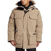 ingrosso giacca calda di coppia-18FW GOOSE Winter Down Jacket Expedition UOMO con cappuccio Warm Down Jacket Uomo Moda Capispalla Capispalla Soild Colore HFLSJK209