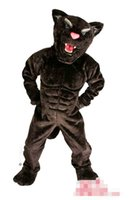 projeto livre do traje da mascote venda por atacado-Personalizado Newly Black Panther mascot costume Adult Size frete grátis