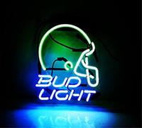 ingrosso neon luminoso di bud-Segno di luce di segni di neon insegna di segno di luce per sala da pub giochi di Windows Garage Decor Wall Signs 10 x 8 pollici blu
