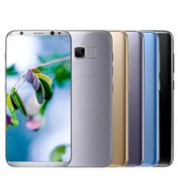 nfc goophone Canada - Goophone S8+ 6.2 inch Real fingerprint Android7.0 smartphone Quad Core 1GB 8GB show 64GB 4G LET Octa Core smartphone sealed box
