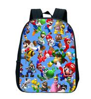 mochilas escolares mario al por mayor-12 pulgadas Super Mario Bros Kinder Infantil Pequeño Bolsas Escuela de Sonic bookbags niños del niño del bolso de la mochila de los niños