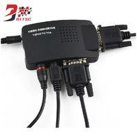 Wholesale rca tv converter - SZBITC Hot Sale PC Laptop Video TV S-video Composite RCA  AV to VGA Media Converter Adapter
