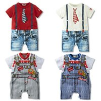 Wholesale Grow Cotton - Newborn baby boy outfits 3-24M baby boys kids overalls costume suit grow outfit romper pants clothes 14 styles