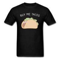 ingrosso comprare vestiti di cotone-Compra Me Tacos Cool Top manica corta Camicie Estate / Autunno girocollo in tessuto di cotone Uomo T Shirt Cool Abbigliamento Shirt Hip Hop