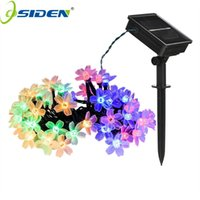 ingrosso luci fatate-OSIDEN 100 LED Solar String Fiori Fairy Lights Impermeabile Outdoor Solar String Lights Decorated Garden Luce natalizia