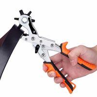 couro de perfuração venda por atacado-Frete grátis correia de couro perfurador de mão ferramenta de perfuração pu furador que faz a ferramenta de cartão de pvc ilh