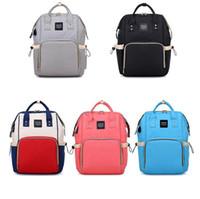 Wholesale usb pocket pc - USB Mommy Backpack 5 Colors Large Capacity Backpack Diaper Bag Waterproof Organizer Stroller Bag Mom Nappy Nursing Bags 20pcs LJJO5304