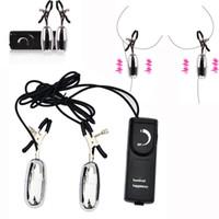nippel klemmt vibrator großhandel-Multi Speed Vibrationsnippelklemmen Elektrische Nippel Clip Vibrator Stimulatoren Massager Erotik Sex Spielzeug für Frauen Erwachsene Produkte