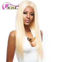 Wholesale blond hairs for sale - Group buy xblhair blond straight human hair weft remy straight human hair bundles mink brazilian human hair