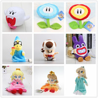 Wholesale Old Rabbit - New arrival 100% Cotton Super Mario Bros Ice & Fire Flower Magikoopa Old Toad Princess Peach Daisy Rosalina Rabbit Boo Ghost Plush Toy Gift