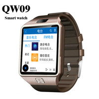 Wholesale android wifi touch watch phone online – QW09 Smart watch DZ09 Upgrade Watch For Android IOS SIM Call phone touch Bluetooth Smartwatch G WIFI Watch Waterproof Alarm m camera A1