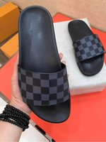 Wholesale woman sandals for sale - Designer sandals Sup and Luxury Brand designer print Soft leather rubber men women sandals slipper size with box