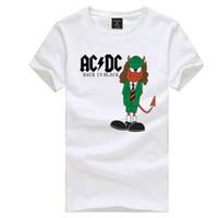 dc metals venda por atacado-Homens mulheres Rock Metal AC / DC AC DC camiseta ACDC dos desenhos animados projeto t camisa rock band manga curta t-shirt