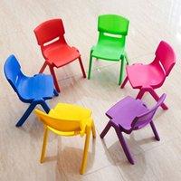 ingrosso sgabelli da salotto in plastica-L'altezza di sede di 26cm per sicurezza delle sedie di plastica di asilo dei bambini ispira il piccolo sgabello Trasporto libero ecologico QW7282