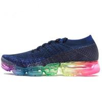 Wholesale rainbow plush - 2018 New Vapormax Sneaker Rainbow BE TRUE Gold Black Pink Women Men Mens Designer Running Luxury Brand Shoes Trainers Sneakers
