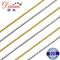 Wholesale costs chain for sale - Group buy DAIMI Genuine Silver White Yellow Silver Chain Cost Price Sale Silverware sterling silver jewelry Y1892806