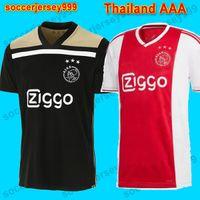 ingrosso pullover di calcio migliore della tailandia-Pullover di calcio Ajax 18 19 Camisa NOURI ZIYECH HUNTELAAR Camicie da calcio camisetas de futbol maillot de foot 2018 2019 uniforme Best thailandia