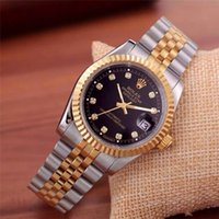Wholesale men complete designer - Tooth ring 40mm daydate designer watches new luxury fashion brand product in men and women date new steel clock quartz watches for men